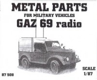GAZ 69 Radio Car (Metal Parts)